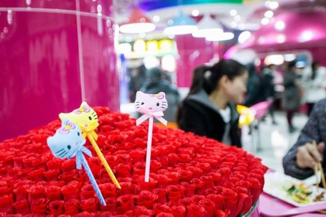 Nữ sinh Trung Quốc 'phát sốt' với căng-tin phong cách Hello Kitty ảnh 6