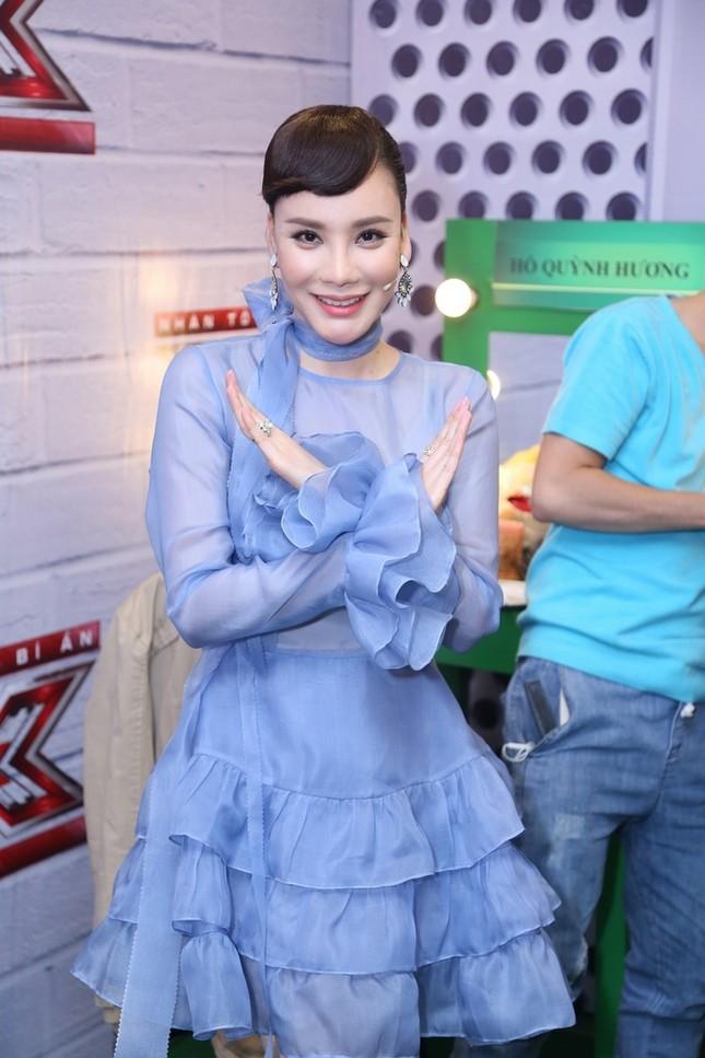 Hồ Quỳnh Hương phồng má tạo dáng trong hậu trường X Factor ảnh 11