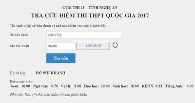 Nam sinh xứ Nghệ xuất sắc đạt 3 điểm 10 kỳ thi THPT quốc gia ảnh 1
