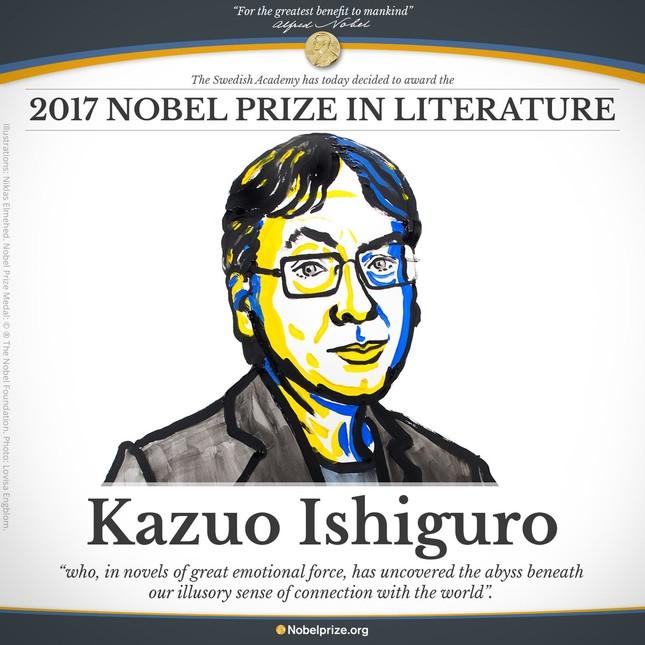Nhà văn người Anh gốc Nhật đoạt giải Nobel Văn học 2017 ảnh 1