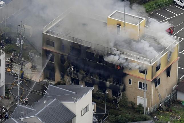 Cháy xưởng phim Nhật Bản: Nghi phạm vừa châm lửa vừa hét 'Chết đi!' ảnh 1