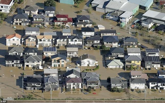 Cảnh tan hoang vì siêu bão Hagibis ở Nhật Bản nhìn từ trên cao ảnh 6