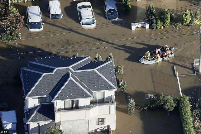Cảnh tan hoang vì siêu bão Hagibis ở Nhật Bản nhìn từ trên cao ảnh 1