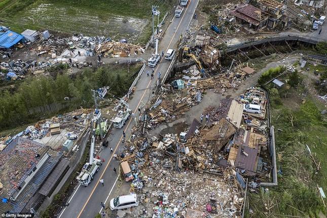 Cảnh tan hoang vì siêu bão Hagibis ở Nhật Bản nhìn từ trên cao ảnh 11