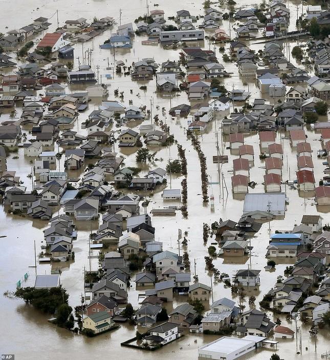 Cảnh tan hoang vì siêu bão Hagibis ở Nhật Bản nhìn từ trên cao ảnh 7