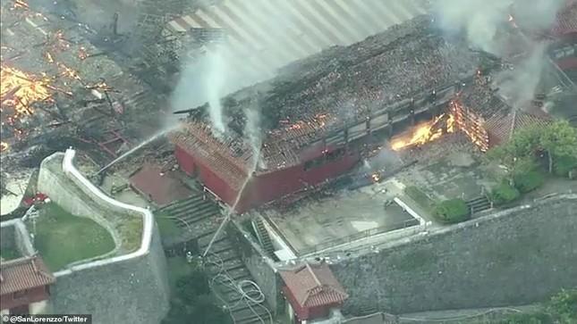 Dân Nhật bàng hoàng nhìn lâu đài 600 năm tuổi bị lửa thiêu rụi ảnh 9