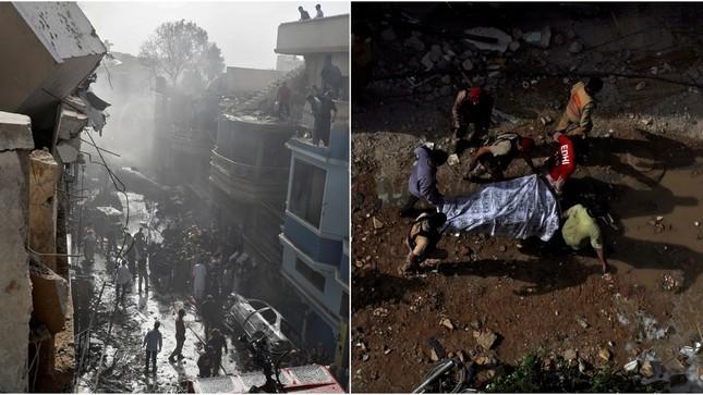 Pakistan: Hiện trường vụ máy bay chở hơn 100 người rơi trúng khu dân cư ảnh 1