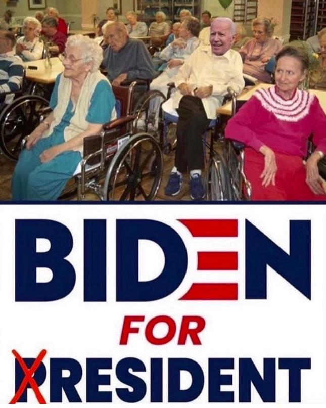 Ông Trump đăng ảnh 'chế' cảnh đối thủ Joe Biden ngồi xe lăn trong viện dưỡng lão ảnh 1