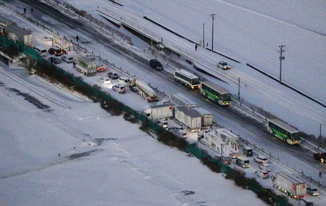 Cả trăm chiếc xe đâm dồn toa trên cao tốc Nhật Bản, 18 người thương vong ảnh 1