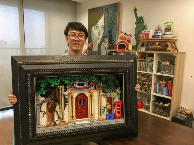 Chàng trai xếp Lego hình làng quê, đình chùa Việt Nam lên báo Anh ảnh 1