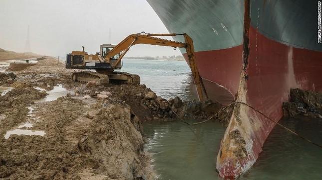 Giải cứu thành công tàu container sau một tuần mắc cạn chắn ngang kênh Suez ảnh 1