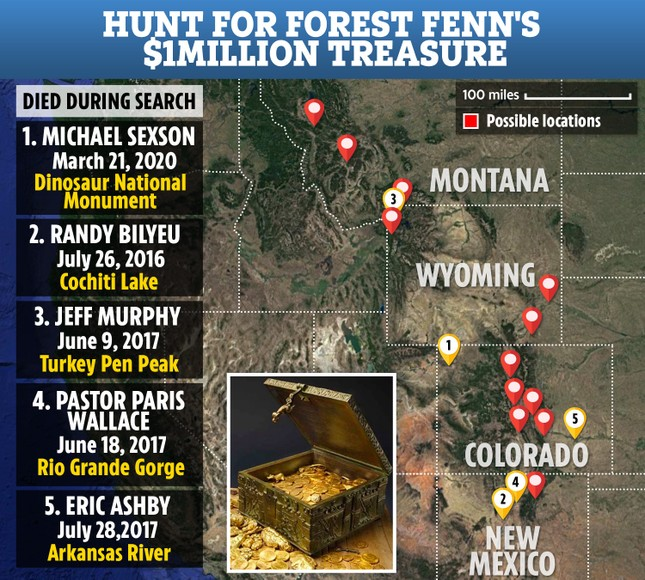 Ly kỳ cuộc săn tìm kho báu triệu đô, khiến 5 người thiệt mạng ảnh 1