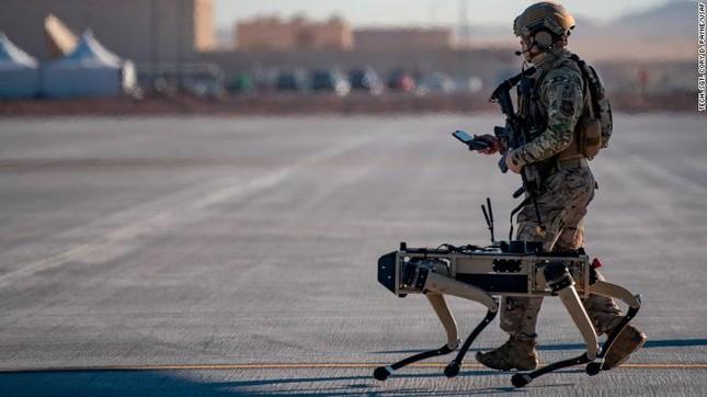 Chó robot tập trận không quân ảnh 1