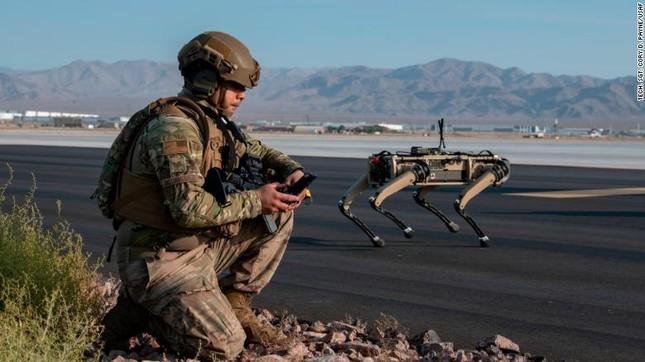 Chó robot tập trận không quân ảnh 3