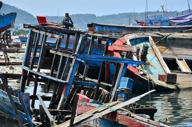 Nhếch nhác 'nghĩa địa' tàu cá tiền tỉ ở cảng Sa Huỳnh ảnh 8