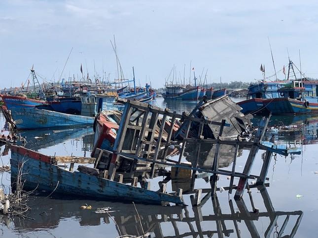Nhếch nhác 'nghĩa địa' tàu cá tiền tỉ ở cảng Sa Huỳnh ảnh 1