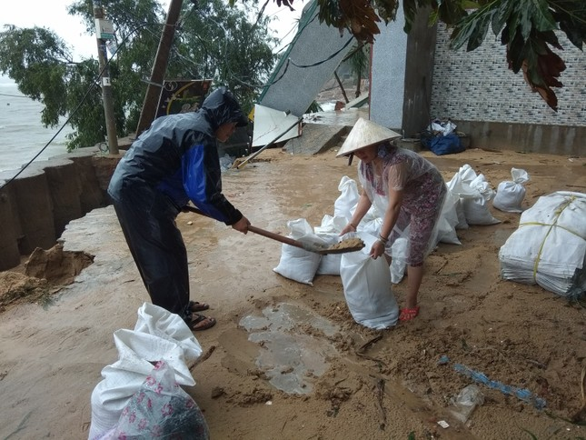 Sau bão số 5: Quảng Ngãi hư hại hơn 400 nhà, sóng đánh sập kè ở Bình Định ảnh 15