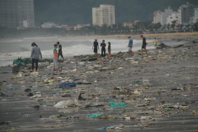 Sau bão số 5, cây cối đổ ngổn ngang, bãi biển Quy Nhơn ngập ngụa rác ảnh 12