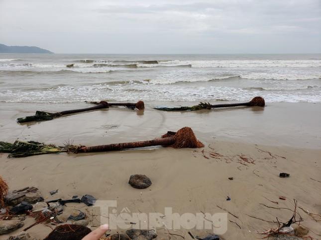 Bờ biển Đà Nẵng ngổn ngang, kè sông sụt lún vì bão số 13 ảnh 13