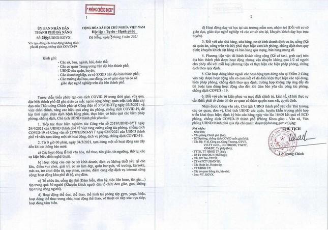 Đà Nẵng cho học sinh, sinh viên ngừng đến trường từ ngày 4/5, tạm dừng nhiều hoạt động ảnh 2