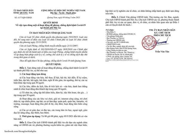 BN COVID-19 mới ở Quảng Nam: Đi chơi ở Đà Nẵng, Hội An, 14 F1 đã có kết quả xét nghiệm ảnh 1