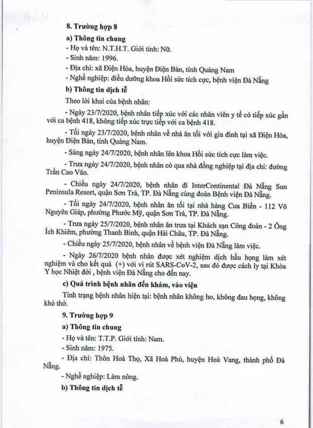 Truy dấu chân 11 bệnh nhân COVID-19 mới, lộ trình phủ khắp Đà Nẵng  ảnh 6