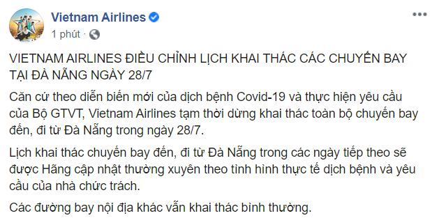 Dừng bay Đà Nẵng từ 0h ngày 28/7, các hãng hàng không hỗ trợ khách hàng đã đặt vé thế nào? ảnh 2