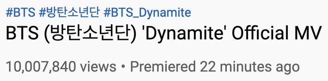 """MV """"Dynamite"""" giúp BTS bỏ túi nhiều thành tích, phá luôn kỷ lục trong thời gian… đếm ngược ảnh 4"""