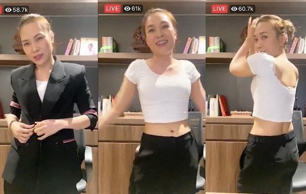 Mỹ Tâm xin lỗi Mai Tài Phến trên livestream, khoe eo để bác bỏ tin đồn mang thai ảnh 3