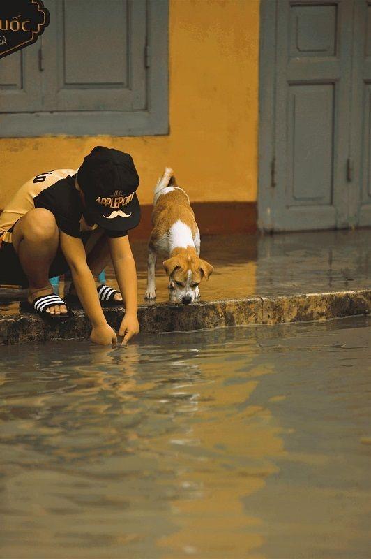 """Những câu chuyện đáng yêu đằng sau bộ ảnh """"Venice Hội An"""" thắp sáng những ngày mưa lũ ảnh 16"""