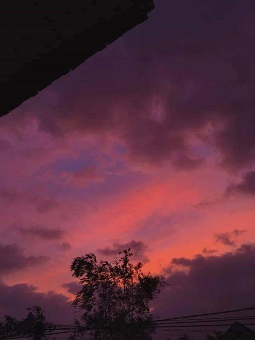 Miền Trung: Bầu trời hoàng hôn chuyển màu tím siêu đẹp nhưng lại khiến bao người lo lắng ảnh 5