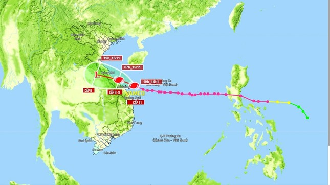 Cập nhật tình hình bão Vamco: Sông Hàn (Đà Nẵng) nước tràn bờ, đảo Lý Sơn mất điện ảnh 1