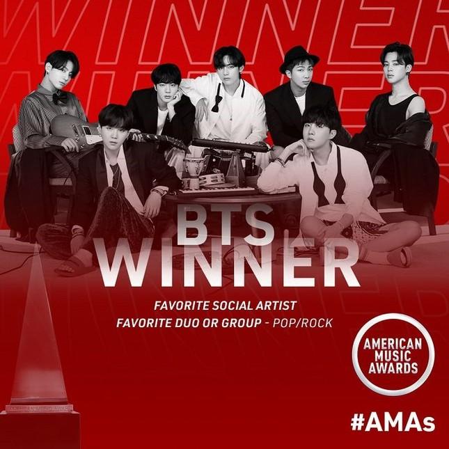 """HOT: BTS chiến thắng 2 hạng mục, mang bản hit mới toanh lên """"American Music Awards 2020"""" ảnh 2"""