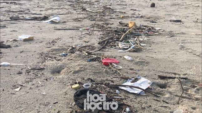 Bão số 13 đã qua từ lâu nhưng bãi biển Đà Nẵng vẫn còn nhếch nhác vì rác ảnh 2