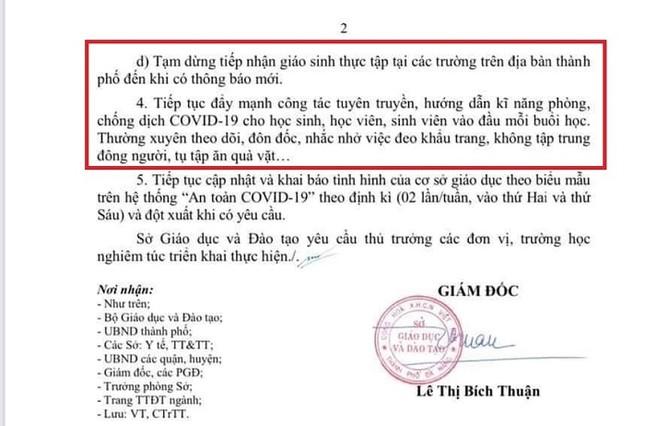 Đà Nẵng: Sinh viên học online, teen chưa thể gặp các giáo sinh thực tập dù đã trở lại trường ảnh 2