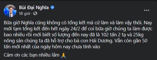 """""""Phiên chợ 0 đồng"""" và những chuyến xe giải cứu nông sản Hải Dương của nghệ sĩ Việt ảnh 4"""