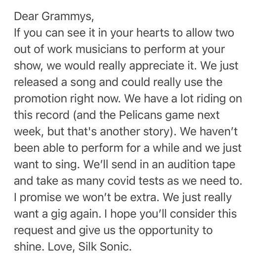 """Giỡn """"nhây"""" như Silk Sonic: """"Ứng tuyển"""" vào team của BTS để được biểu diễn tại Grammys ảnh 6"""