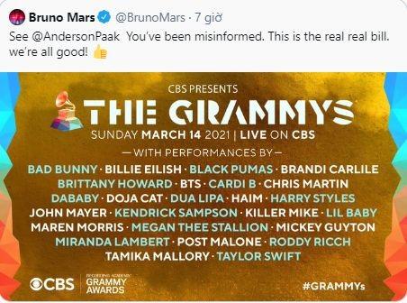 """Giỡn """"nhây"""" như Silk Sonic: """"Ứng tuyển"""" vào team của BTS để được biểu diễn tại Grammys ảnh 4"""