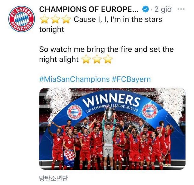 """Đến CLB bóng đá Bayern Munich cũng không thể cưỡng lại ca từ của MV """"Dynamite"""" (BTS) ảnh 2"""