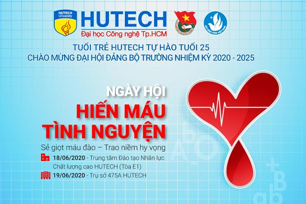 Sẻ chia với cộng đồng: Sinh viên ĐH HUTECH tổ chức ngày hội Hiến máu tình nguyện  ảnh 1