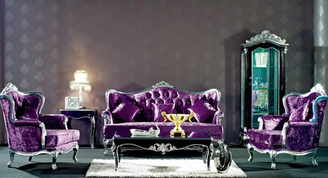 Ngôi nhà mơ mộng với đồ nội thất màu tím ảnh 2