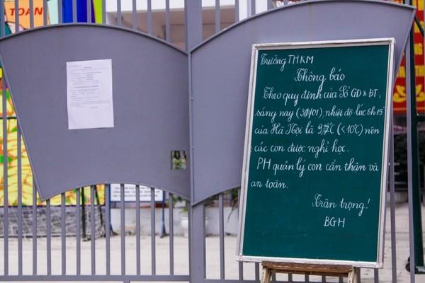 Nhiều trường học Thủ đô đóng kín cửa, không một bóng người ảnh 1