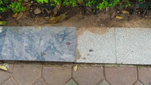 Cận cảnh 'chiếc áo vá' hơn 20 loại gạch, đá được lát ở Hồ Gươm ảnh 12