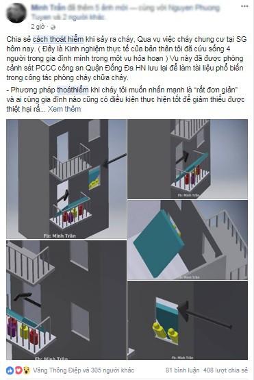Dân chung cư 'sôi sục' chia sẻ cách thoát hiểm khi xảy ra cháy ảnh 4