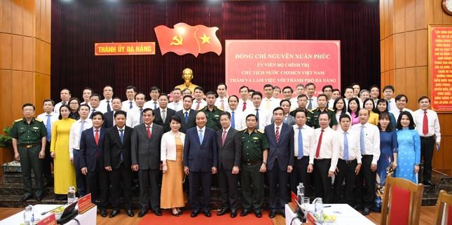 Chủ tịch nước Nguyễn Xuân Phúc làm việc với lãnh đạo Đà Nẵng, Quảng Nam ảnh 1