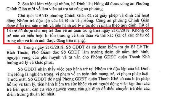 Vụ bạo hành trẻ ở Đà Nẵng: Đưa 14 bé mầm non đi kiểm tra sức khỏe ảnh 3