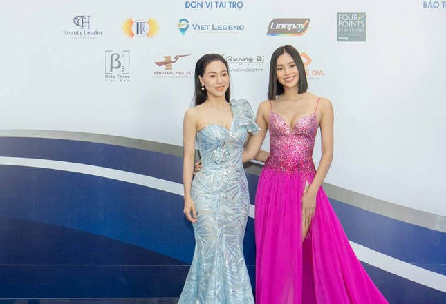 Hoa hậu Trần Tiểu Vy làm giám khảo cuộc thi 'Hoa khôi Hoà Bình Việt Nam' ảnh 3