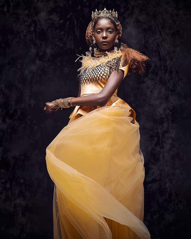 """Bộ ảnh tuyệt đẹp của các nàng công chúa Disney đến từ """"vương quốc Wakanda"""" ảnh 4"""