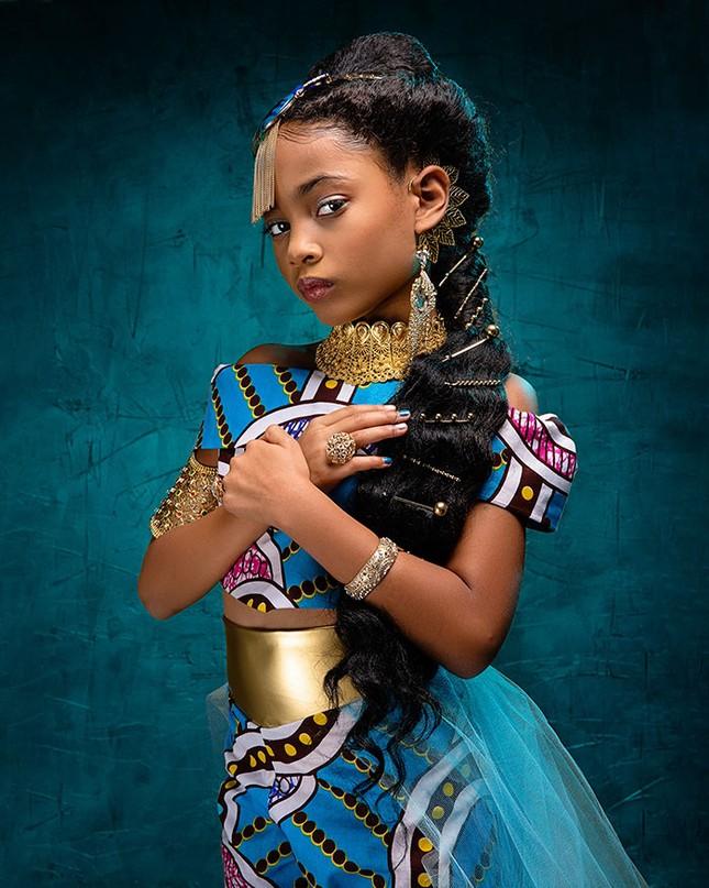 """Bộ ảnh tuyệt đẹp của các nàng công chúa Disney đến từ """"vương quốc Wakanda"""" ảnh 9"""