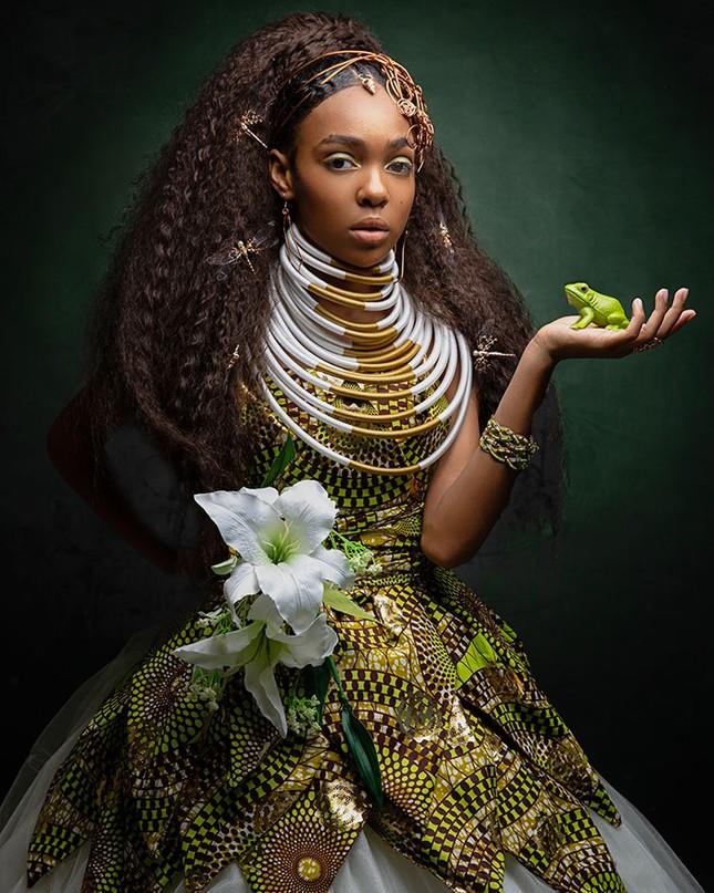 """Bộ ảnh tuyệt đẹp của các nàng công chúa Disney đến từ """"vương quốc Wakanda"""" ảnh 10"""
